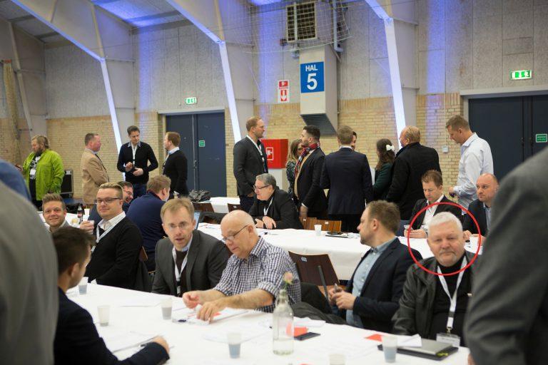 Niels Larsen ved Nye Borgerliges årsmøde i november 2016. (Foto: Researchkollektivet Redox)