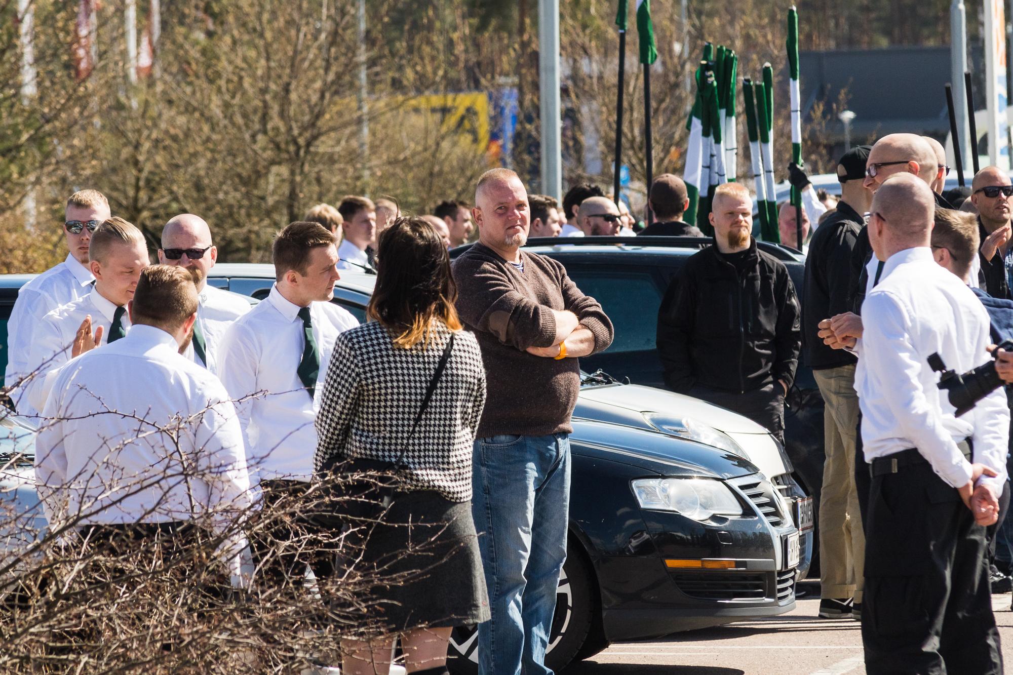 Selvom Henrik Jarsbo opgav forsøget med at starte en NMR-afdeling i Danmark deltog han i organisationens 1. maj-demonstration i Falun i Sverige i år. Foto: Redox