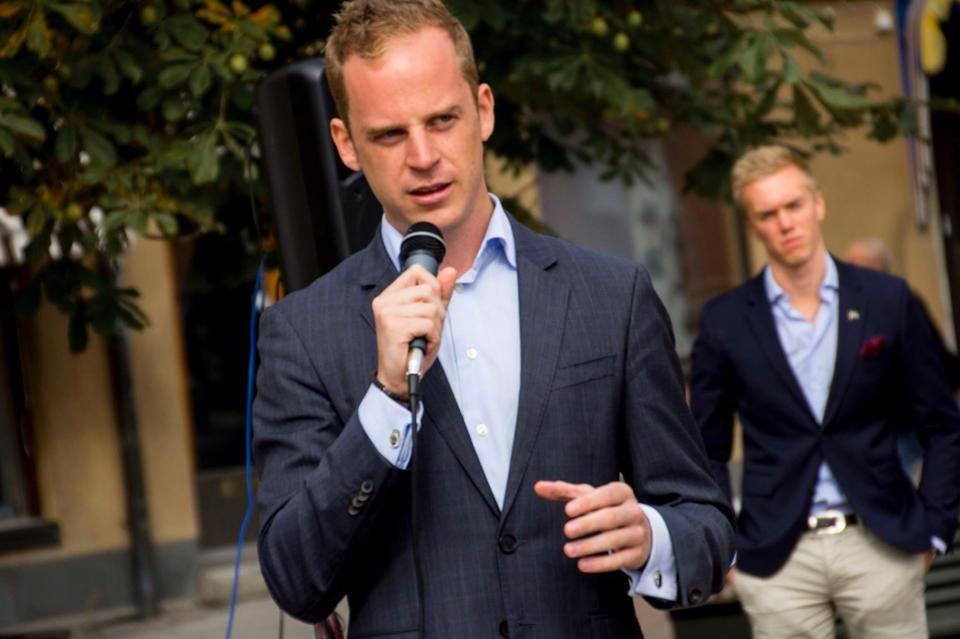 Gustav Kasselstrand er leder af Alternativ för Sverige (Foto: SvartPandra)