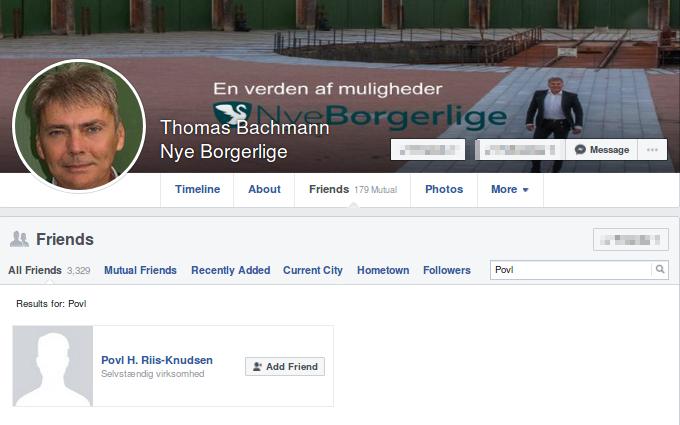 En af Nye Borgerliges folketingskandidater der er venner med top-nazisten er Thomas Bachmann, der stiller op i Ikast-Brande. Screenshot.