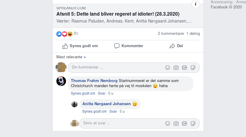 Screenshot fra Facebook.