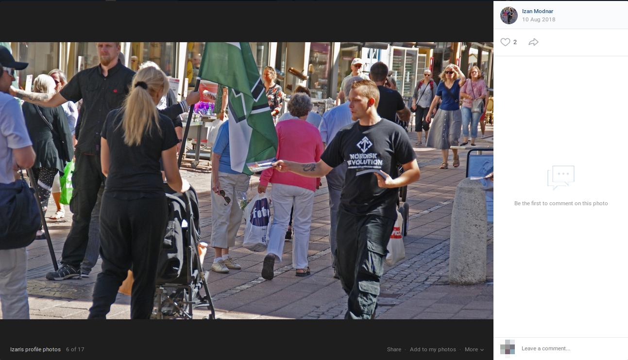 På det sociale medie VK prydede Jesper Rosendahl Gregersen sin profil med et foto af aktionen i Helsingør. Screenshot fra VK.