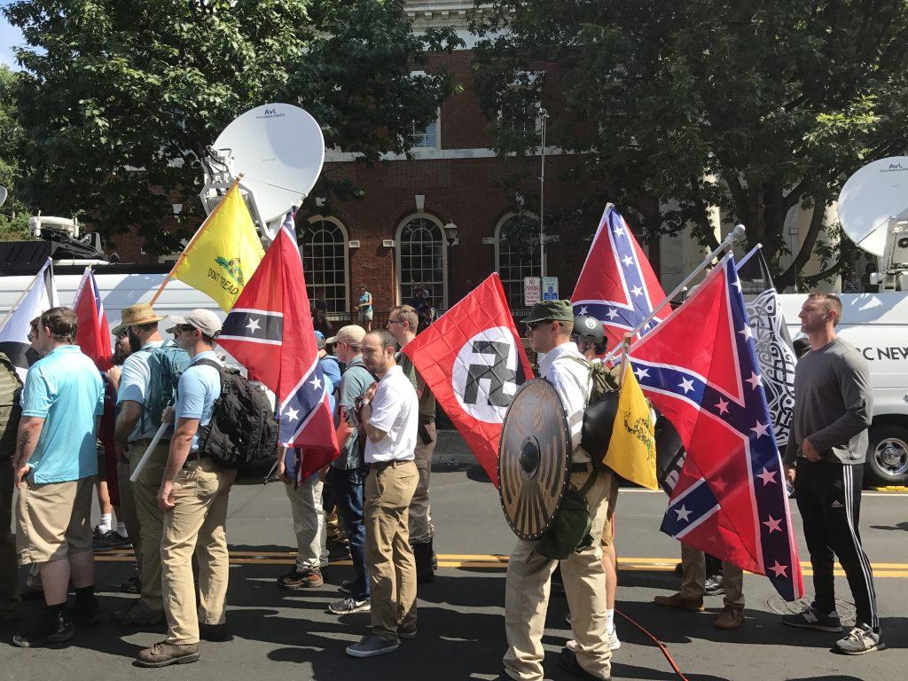 Unite the Right i Charlottesvilles i 2017. Foto: Anthony Crider