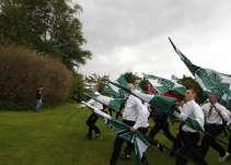 Længe før NMR fik en dansk aflægger, var organisationen i Danmark. I 2007 deltog de nemlig i Hess-,marchen i Kolding. Foto: Redox.